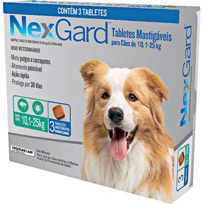 Antipulga NexGard 10,1 A 25kg Caixa Com 3 Tabletes