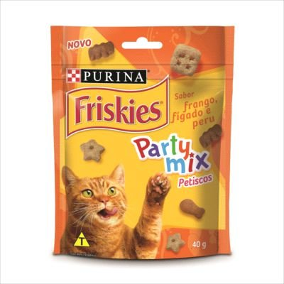 Petisco Friskies Party Mix Frango, Fígado E Peru 40g