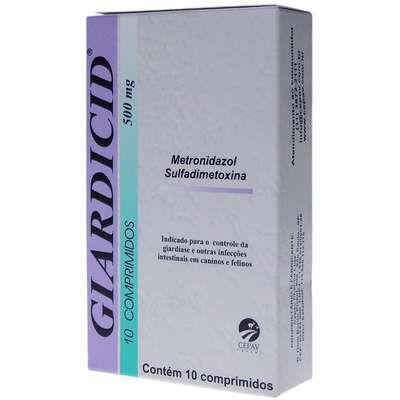 ANTIBIÓTICO GIARDICID 500MG CAIXA COM 10 COMPRIMIDOS
