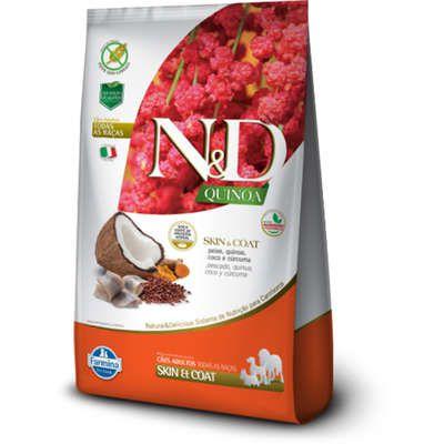 Ração N&D Quinoa Cão Adulto Skin & Coat Peixe 2,5kg