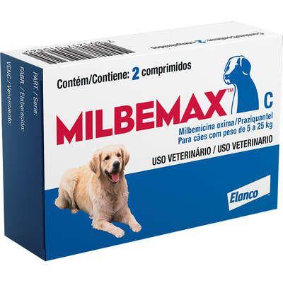 Vermífugo Milbemax Cão 5kg A 25kg