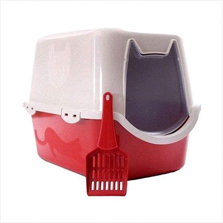 Banheiro Para Gato Durapets Vermelho
