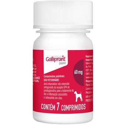 Anti-Inflamatorio Galliprant 60mg Caixa Com 7 Comprimidos