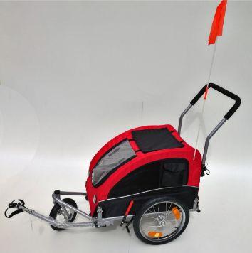 Carrinho Com Acoplamento De Bicicleta B2pets Vermelho