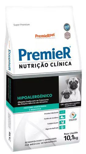 RAÇÃO PREMIER NUTRIÇÃO CLÍNICA CÃO ADULTO  RAÇA PEQUENA HIPOALERGÊNICO 10,1KG