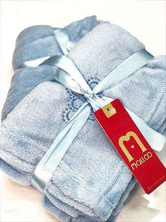 Cobertor Microfibra Malloo Azul Bebe