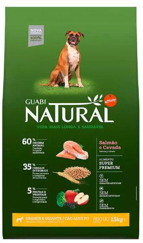 Ração Guabi Natural Cao Adulto Raça Grande Salmão E Cevada 15kg