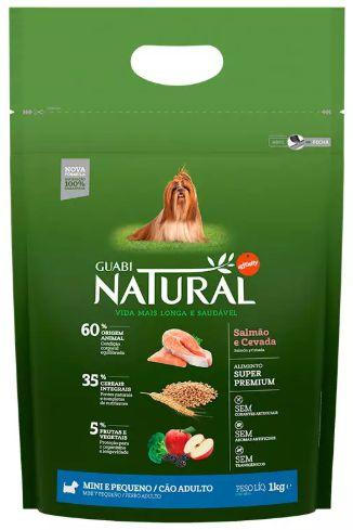 Ração Guabi Natural Cao Adulto Raça Pequena Salmão E Cevada 1kg