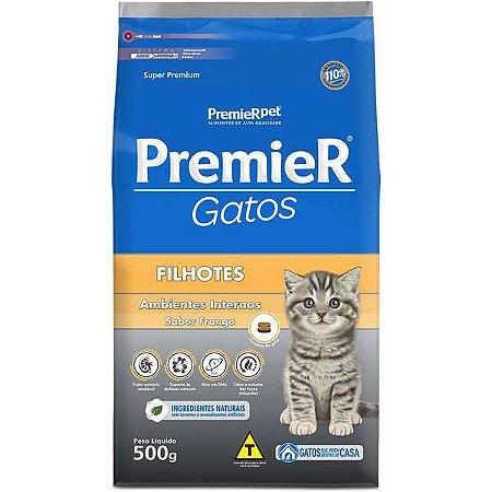 Ração Premier Ambientes Internos Gato Filhote Frango 500g
