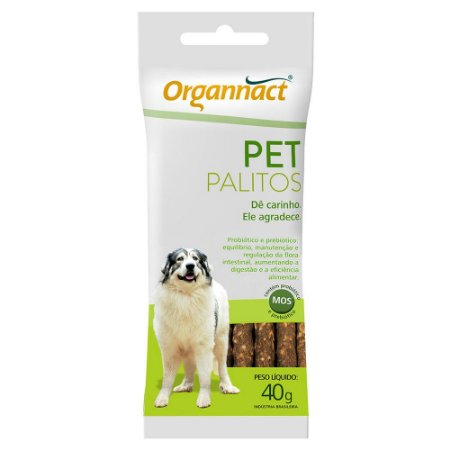 Palitos Organnact Sache Pet Suplemento 40g