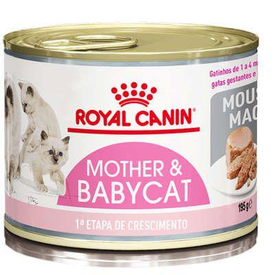Lata Royal Canin Mother and Baby Gato Filhote e Gestante 195g