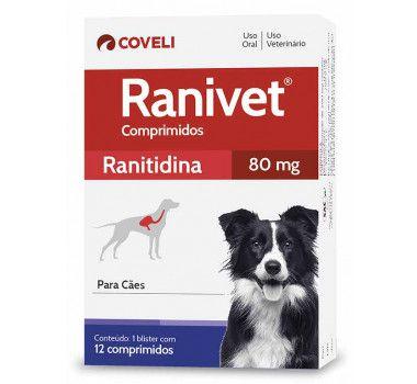 Antiácido Ranivet 80mg Caixa com 12Comprimidos