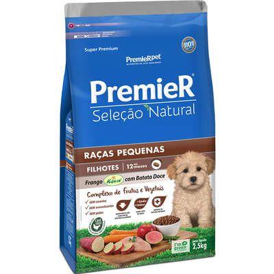 Ração Premier Seleção Natural Cão Filhote Raça Pequena Frango Korin Com Batata Doce 2,5kg