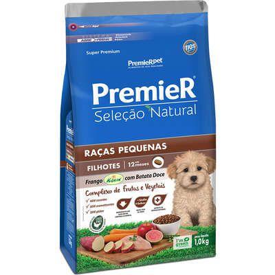 Ração Premier Seleção Natural Cão Filhote Raça Pequena Frango Korin Com Batata Doce 1kg