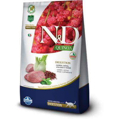 Ração N&D Quinoa Gato Adulto Digestion Cordeiro 1,5kg