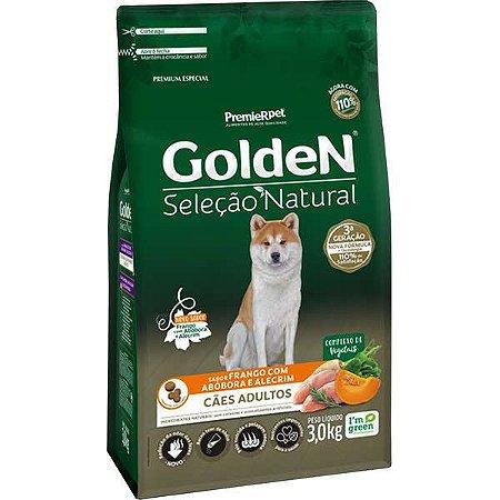 Ração Golden Seleção Natural Cão Adulto Abóbora 3kg