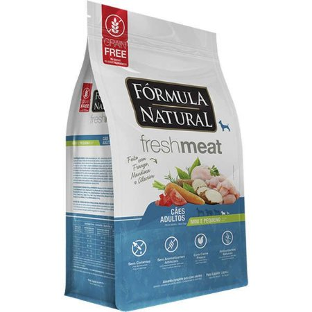 Ração Fórmula Natural Fresh Meat Cão Adulto Raça Mini e Pequena 1Kg