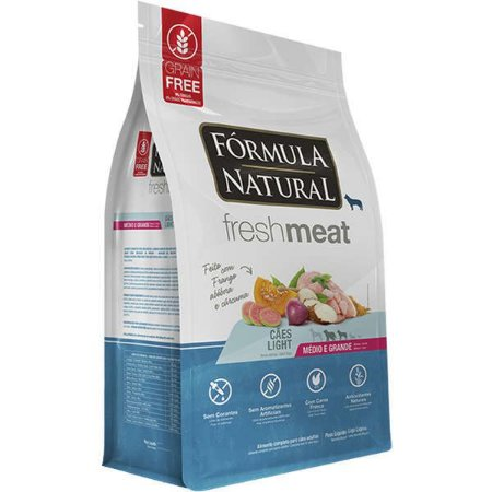 Ração Fórmula Natural Fresh Meat Cão Adulto Light Raça Média e Grande 2,5Kg