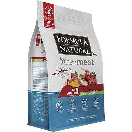 Ração Fórmula Natural Fresh Meat Cão Adulto Raça Mini e Pequena Cordeiro 1Kg