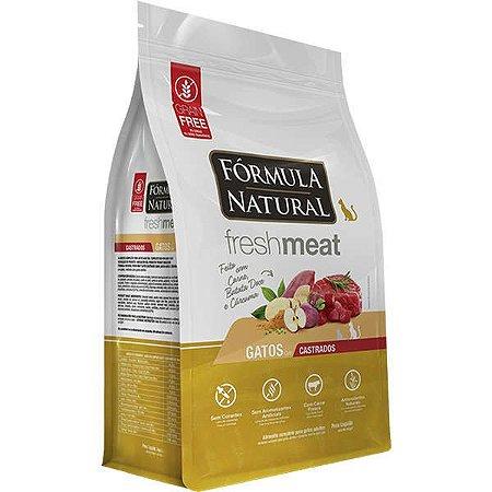 Ração Fórmula Natural Fresh Meat Gato Adulto Castrado Carne 7Kg
