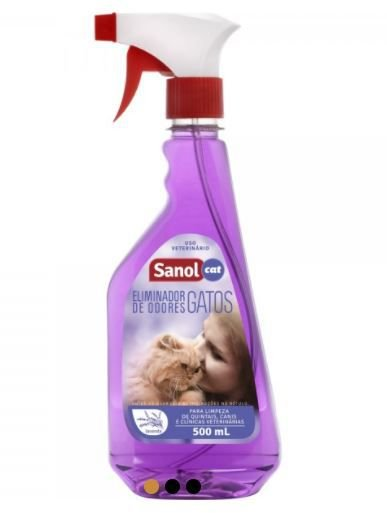 Eliminador De Odores Sanol Gatos Spray 500ml
