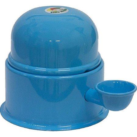 Bebedouro Vida Mansa Raças Pequenas Alumínio 1,4L Azul Claro
