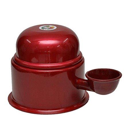 Bebedouro Vida Mansa Raças Pequenas Alumínio 1,4L Vermelho