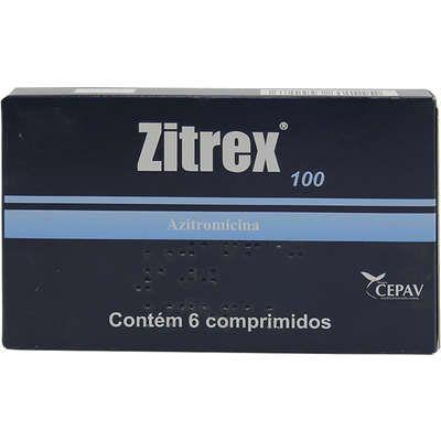 Antibiótico Zitrex 100mg Caixa Com 6 Comprimidos