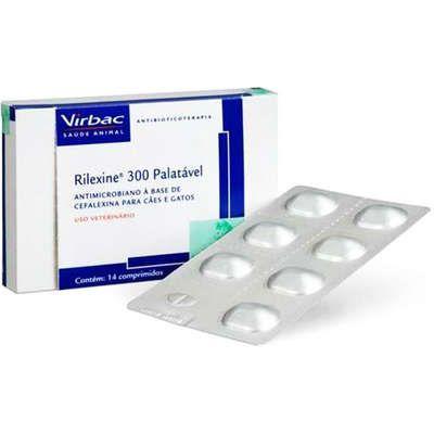 Antibiótico Rilexine Palatável 300mg Blister Com 7 Comprimidos