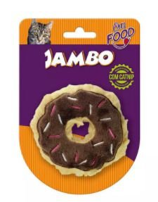 Brinquedo Jambo Food Gato Donut Chocolate