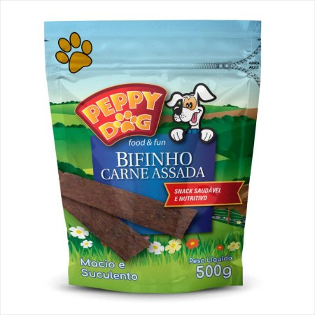 Bifinho Peppy Dog Carne Assada 500g