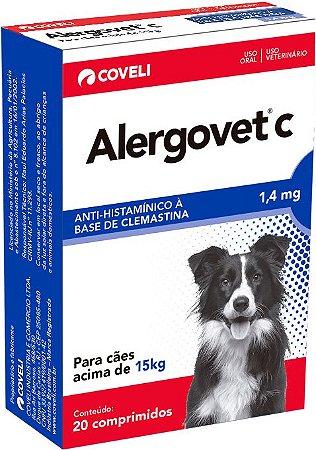 Antialérgico Alergovet C 1,4mg Caixa Com 20 Comprimidos
