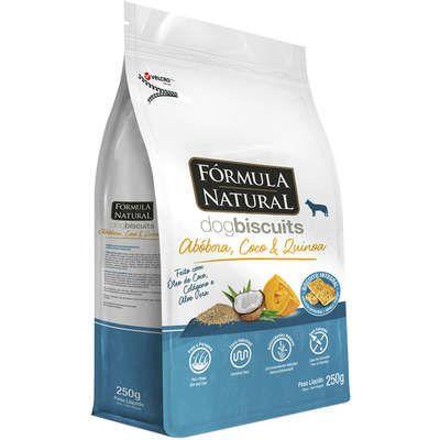 Biscoito Formula Natural Fresh Meat Cão Adulto Raça Média e Grande Abóbora 250g