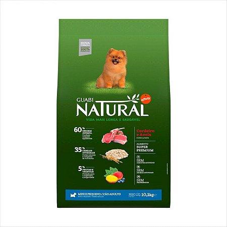Ração Guabi Natural Cao Adulto Raça Pequena E Miniatura Cordeiro e Aveia 10,1kg