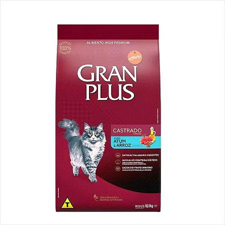 Ração Gran Plus Gato Castrado Atum 10,1Kg