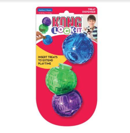 Brinquedo Interativo Kong Lock-it 3-PK Medium