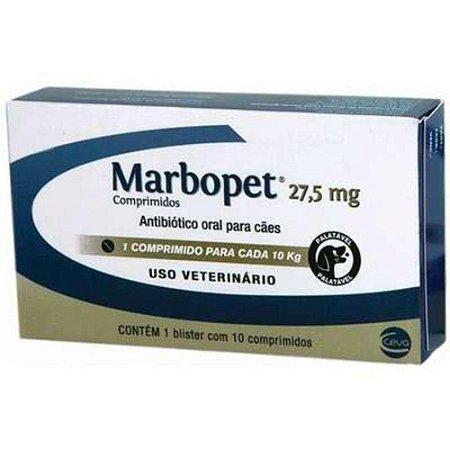 Antibiótico Marbopet 27,5mg com 10 comprimidos
