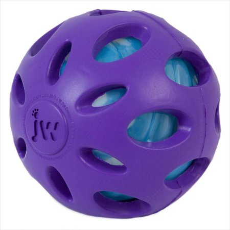 Brinquedo JW Bola Crackle Ball Roxo G