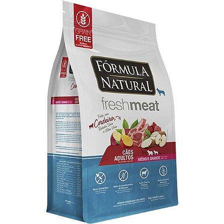 Ração Fórmula Natural Fresh Meat Cão Adulto Raça Média e Grande Cordeiro 2,5Kg