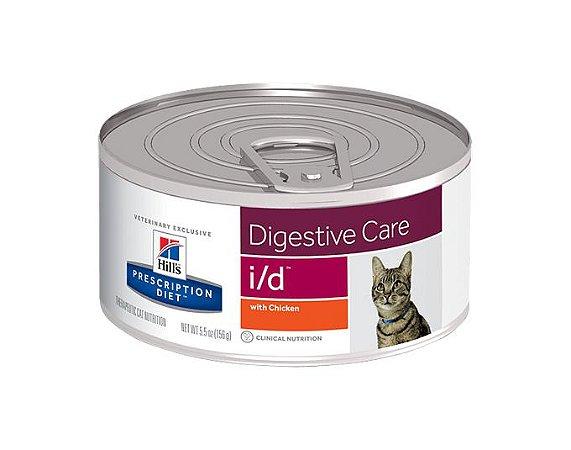 Lata Hill's Prescription Diet Gato I/D Digestive Care Frango e Vegetais 82g