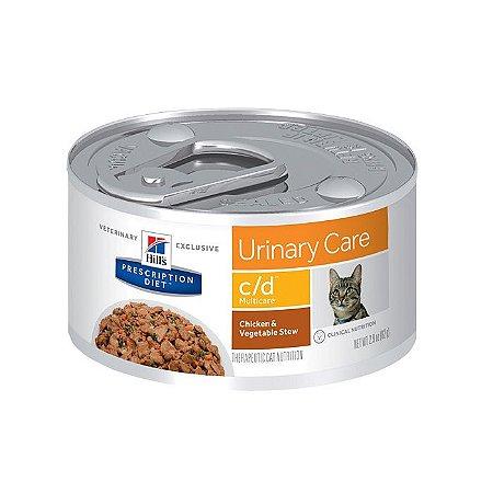 Lata Hill's Prescription Diet Gato C/D Urinary Care Frango e Vegetais 82g