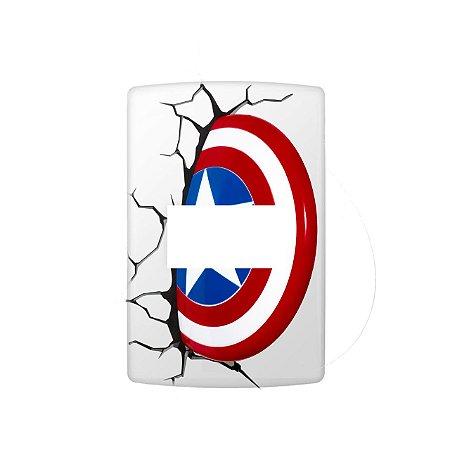 Adesivo Interruptor Escudo - Capitão America