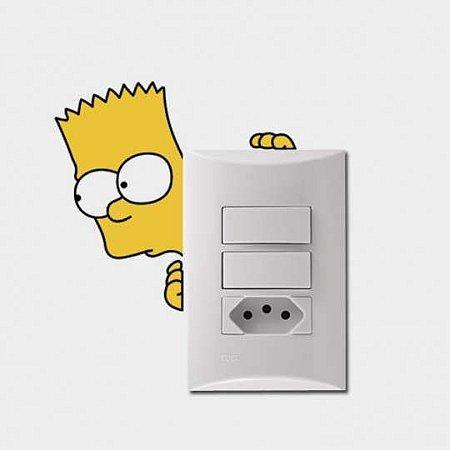 Adesivo Interruptor Bart Simpsons