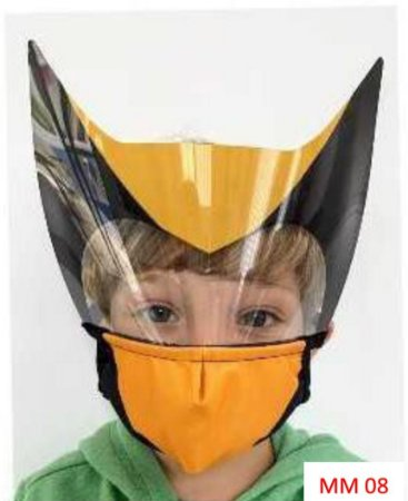 Mascara de proteção Infantil - Wolverine