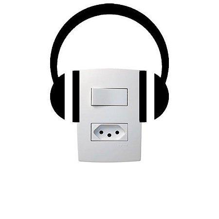 Adesivo Interruptor Fone de Ouvido