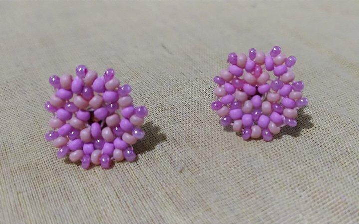 Mini brincos  peyote 3 rosas