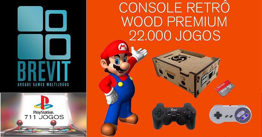 Console Retrô Wood Premium