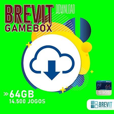Sistema Brevit GameBox 64GB - TV Box S905W e X - DOWNLOAD