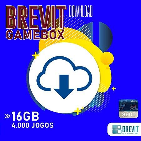 Sistema Brevit GameBox 16GB - TV Box S905W e X - DOWNLOAD