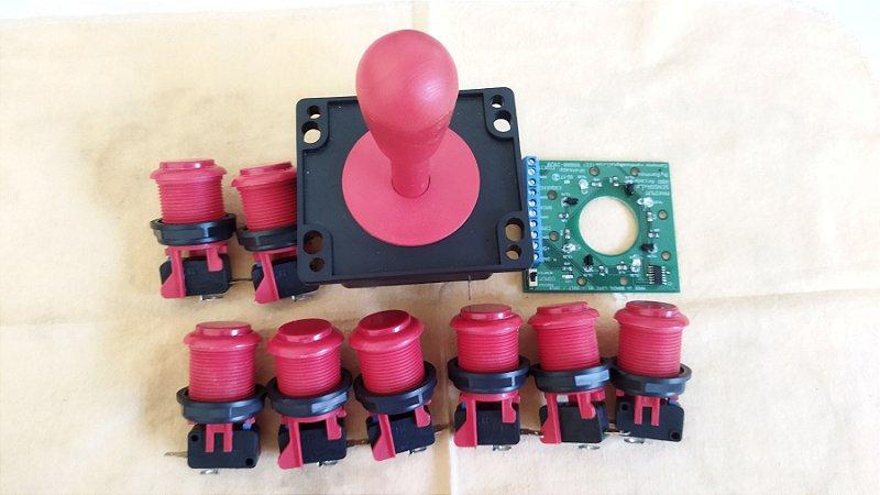 Kit Comando + 8 Botões + Placa Ótica (USADO)